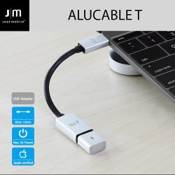 Type-C USB 変換アダプター Just Mobile AluCable USB-C 3.1 to USB Adapter