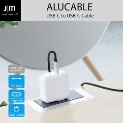 USB 2.0 Type-C ケーブル Just Mobil AluCable USB-C to USB-C Cable